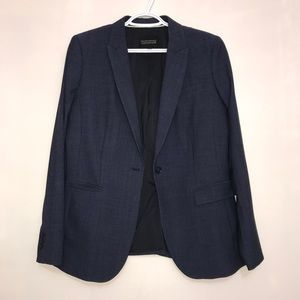 Banana Republic Classic Long Lean Navy Blue Blazer